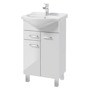 SELSEY Szafka pod umywalkę Loope z umywalką biała 46x80 cm