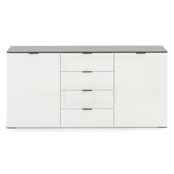 SELSEY Komoda dwudrzwiowa Irmgard z szufladami biała