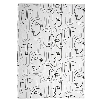 SELSEY Dywan nowoczesny Khwane z motywem twarzy 120x170 cm