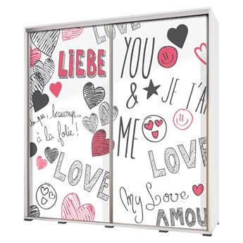 SELSEY Szafa Wenecja 205 cm Rysunkowa miłość