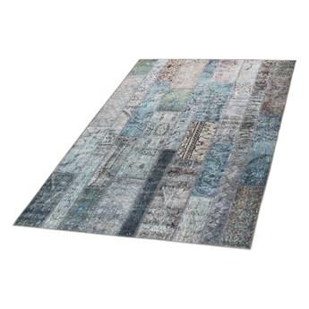 SELSEY Dywan patchwork Patchworkowa Flora z odcieniami turkusu 155x230 cm