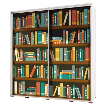 SELSEY Szafa Wenecja 205 cm Biblioteka