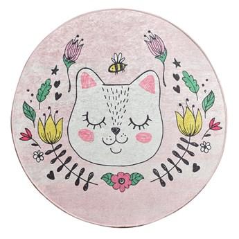 SELSEY Dywan do pokoju dziecięcego Dinkley Sofia różowy średnica 200 cm