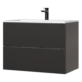 SELSEY Szafka pod umywalkę Ursala 80 cm czarna