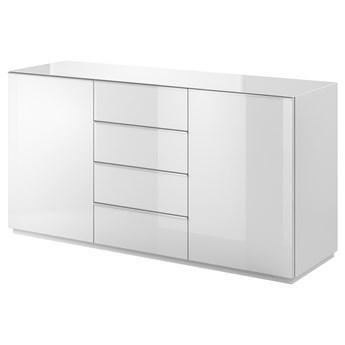 SELSEY Komoda dwudrzwiowa Monterry z czterema szufladami biała