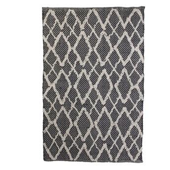 SELSEY Dywanik Humaita w stylu boho czarno-beżowy 60x90 cm