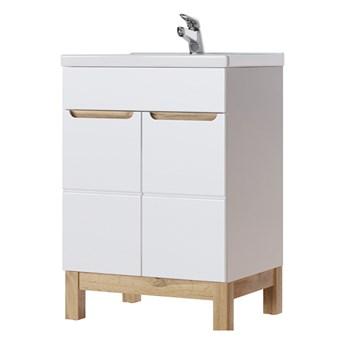 SELSEY Szafka pod umywalkę Jakkarta biała 60 cm