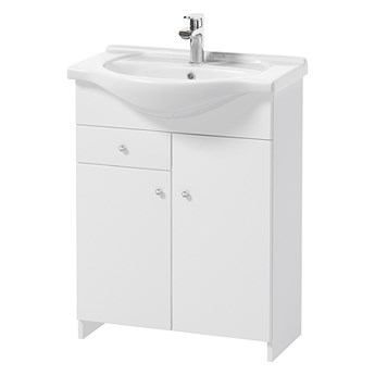 SELSEY Szafka pod umywalkę Meandy stojąca szeroka biała z umywalką