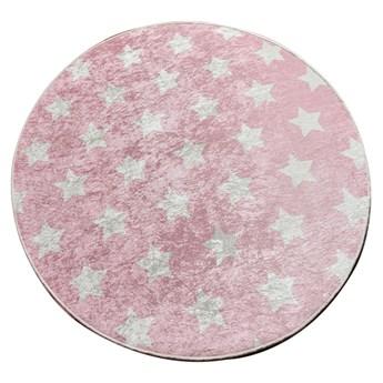 SELSEY Dywan do pokoju dziecięcego Dinkley Yildiz różowy średnica 200 cm
