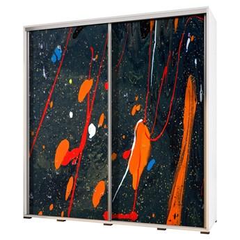 SELSEY Szafa Wenecja 205 cm Abstrakcja ognista