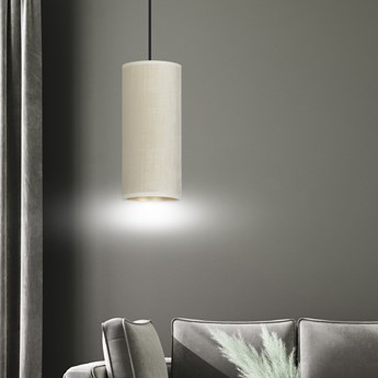 BENTE 1 BL WHITE lampa wisząca abażury welurowe regulowana złoty środek