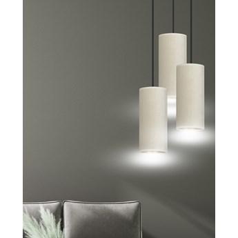 BENTE 3 BL PREMIUM WHITE lampa wisząca abażury welurowe regulowana złoty środek