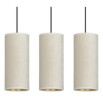 BENTE 3 BL WHITE lampa wisząca abażury welurowe regulowana złoty środek