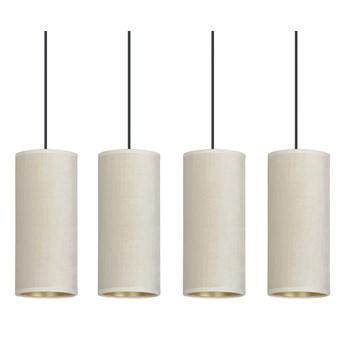 BENTE 4 BL WHITE lampa wisząca abażury WELUROWE regulowana złoty środek