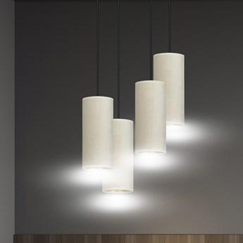 BENTE 4 BL PREMIUM WHITE lampa wisząca abażury WELUROWE regulowana złoty środek