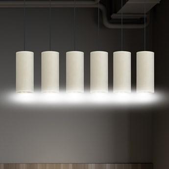 BENTE 6 BL WHITE lampa wisząca abażury welurowe regulowana złoty środek