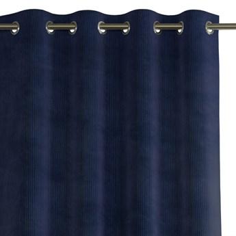 Zasłona na przelotkach zaciemniająca sztruksowa Granatowa 140x250 HOBBO