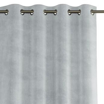 Zasłona na przelotkach zaciemniająca sztruksowa Popielata 140x250 HOBBO