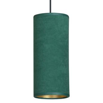 BENTE 1 BL GREEN lampa wisząca abażury WELUROWE regulowana złoty środek