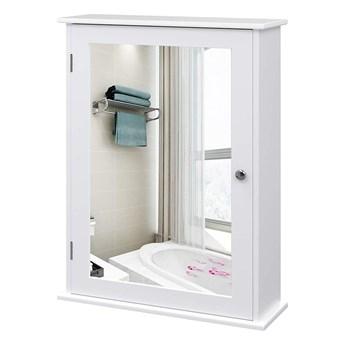 SELSEY Szafka łazienkowa Wlens 41 cm wisząca z lustrem w stylu rustykalnym