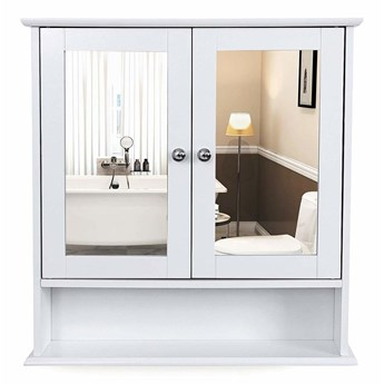 SELSEY Szafka łazienkowa Wlens 56 cm wisząca z lustrem w stylu rustykalnym