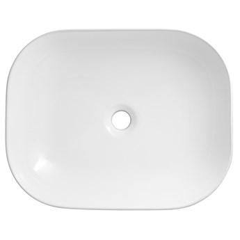 Wolnostojąca umywalka nablatowa Corsan 649919 prostokątna biała 50 x 39,5 x 14 cm