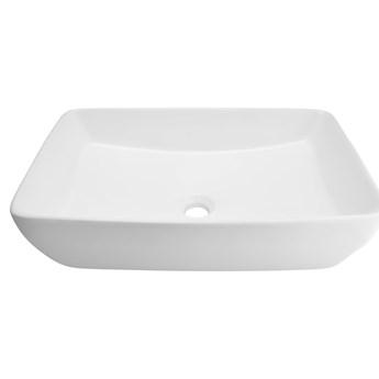 Wolnostojąca umywalka nablatowa Corsan 649971 prostokątna biała 58 x 38 x 15 cm