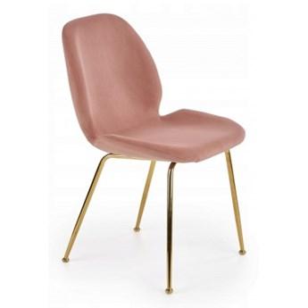 Krzesło Skandynawskie do Jadalni K381 Różowe Welur