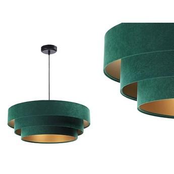 Welurowa lampa 60cm - abażur do salonu sypialni 1xE27 (Trinity 003) ręcznie robiony