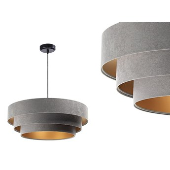 Welurowa lampa 60cm - abażur do salonu sypialni 1xE27 (Trinity 014) ręcznie robiony