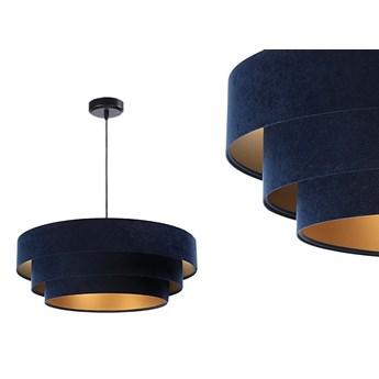 Welurowa lampa 60cm - abażur do salonu sypialni 1xE27 (Trinity 044) ręcznie robiony