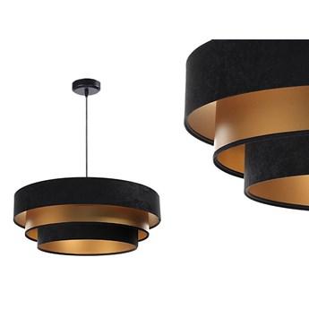 Welurowa lampa 60cm - abażur do salonu sypialni 1xE27 (Trinity 072) ręcznie robiony