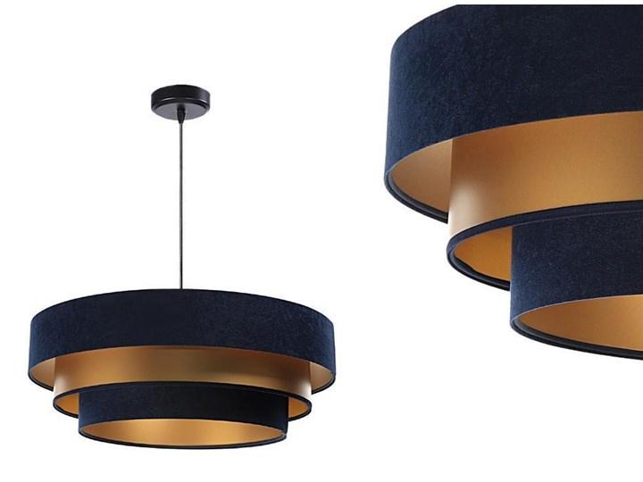 Welurowa lampa 60cm - abażur do salonu sypialni 1xE27 (Trinity 073) ręcznie robiony Lampa z abażurem Tworzywo sztuczne Funkcje Możliwość ściemniania