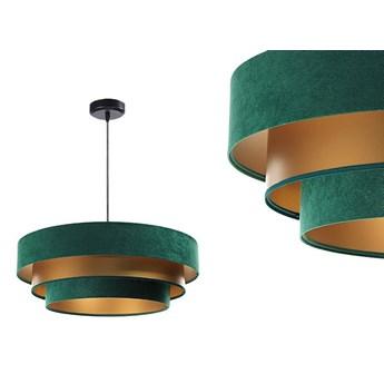 Welurowa lampa 60cm - abażur do salonu sypialni 1xE27 (Trinity 075) ręcznie robiony