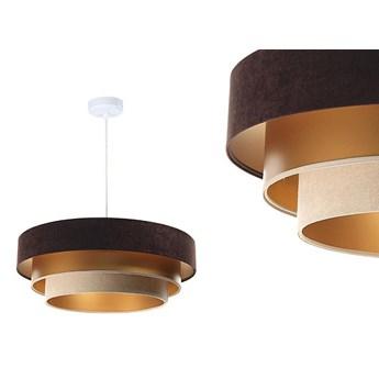 Welurowa lampa 60cm - abażur do salonu sypialni 1xE27 (Trinity 077) ręcznie robiony