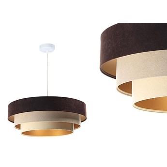 Welurowa lampa 60cm - abażur do salonu sypialni 1xE27 (Trinity 080) ręcznie robiony