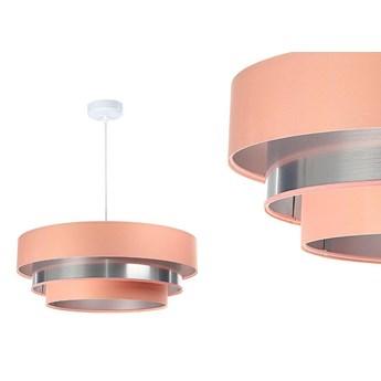 Satynowa lampa 60cm - abażur do salonu sypialni 1xE27 (Trinity 092) ręcznie robiony