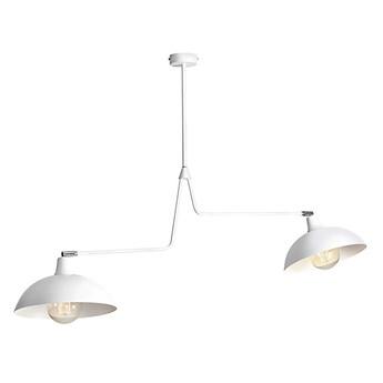 Biała industrialna - loftowa lampa wisząca (żyrandol 2xE27) Aldex (Espace) 1036H