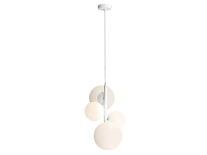 Lampa wisząca pionowy żyrandol, zawiesie białe, 4 mleczne kule (2xE14/2xE27) Aldex (Bloom) 1091L