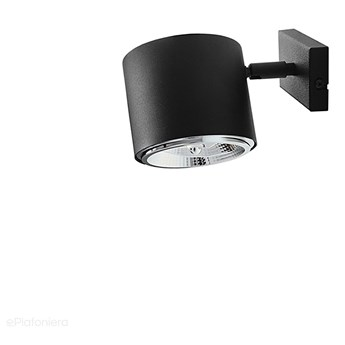 Czarna lampa - spot ścienna, kinkiet (regulowana, ustawna 1xAR111) Aldex (Bot)1047C