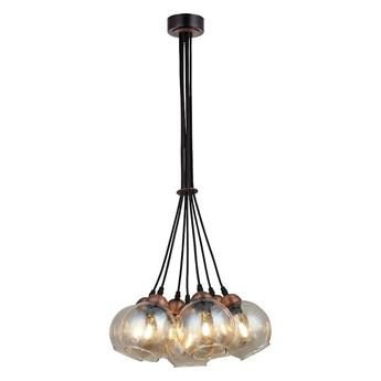 Wiszące szklane klosze, żyrandol - lampa wisząca 7xE27, Lucea 1437-74-07 VIVO