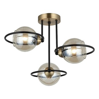 Lampa sufitowa plafoniera - żyrandol druciane ringi 3xE27, Lucea 1454-73-13 RINGO