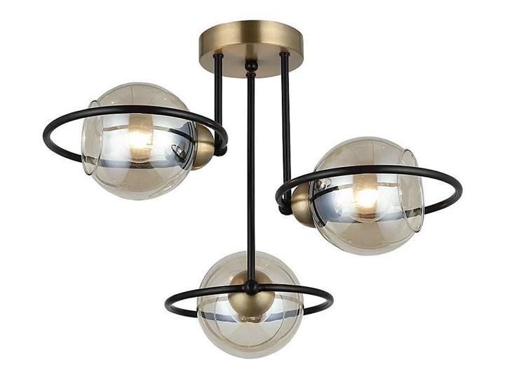 Lampa sufitowa plafoniera - żyrandol druciane ringi 3xE27, Lucea 1454-73-13 RINGO Lampa druciana Szkło Lampa z kloszem Metal Kategoria Lampy wiszące