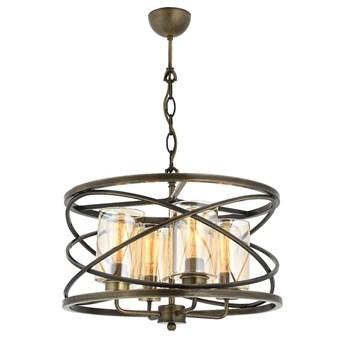 Żyrandol - patynowe okręgi, lampa wisząca  4xE27, Avonni AV-1590-4E