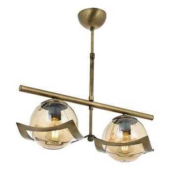 Podwójna lampa wisząca - patynowy żyrandol 2xE27, Avonni AV-4117-2EY