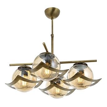 Poczwórna lampa wisząca - patynowy żyrandol 4xE27, Avonni AV-4117-4E