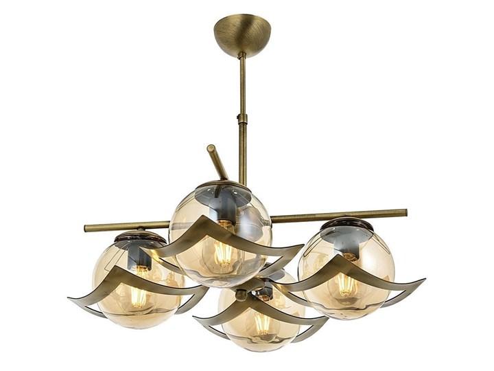Poczwórna lampa wisząca - patynowy żyrandol 4xE27, Avonni AV-4117-4E Lampa z kloszem Szkło Metal Pomieszczenie Jadalnia