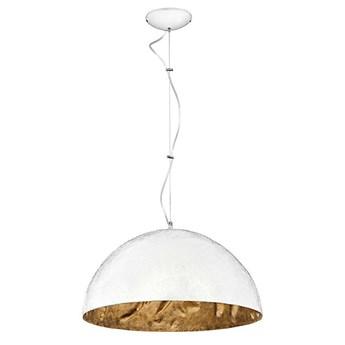 Pojedyncza lampa wisząca, biało złota czara (45cm) 1xE27, Aldex (Simi) 766G/D