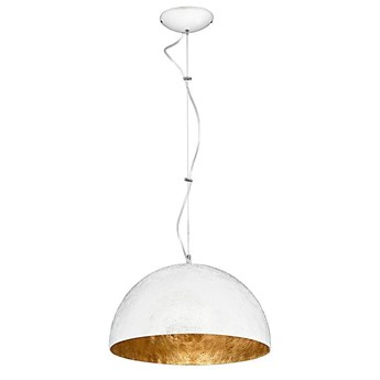 Pojedyncza lampa wisząca, biało złota czara (35cm) 1xE27, Aldex (Simi) 766G