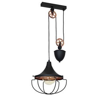 Czarna lampa wisząca - loft (złota), żyrandol 31cm 1xE27, Aldex (Danton) 902G1/S